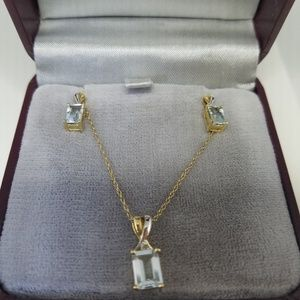 Jewelry - 10kt Gold Necklace/Earrings